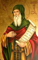 With boldness . Anthony The Great, Saint Antony, Russian Orthodox, Orthodox Icons, Saints, Princess Zelda, Artwork, Fictional Characters, Ava