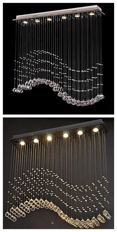 Crystal LED Ceiling Chandeliers, using this to create a pretty corner for your kitchen.