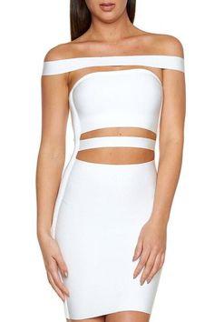 KJ Bandage Dress- White