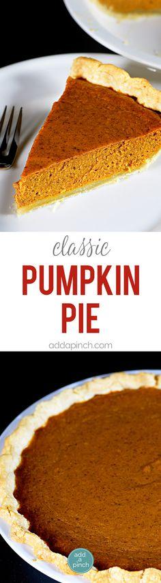 Classic Pumpkin Pie Recipe - This classic pumpkin pie recipe makes an old…