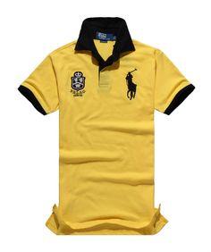134e6f3c4aafd Polo Ralph Lauren Flag PRLSC YELLOW T-Shirt,ralph lauren polo for  cheap,world-wide renown