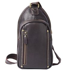 86664327216c LEATHER MENS COOL SLING BAG Black Coffee CROSSBODY BAG CHEST BAG FOR MEN