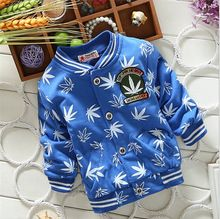 Christmas Costumes Jacket for Boys Children Zipper Outerwear Leaf Print Hoodies Tracksuit Baby Clothing Coats(China (Mainland))