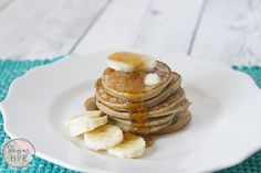 These pancakes are completely guilt-free! They are dairy-free, gluten-free and sugar-free!