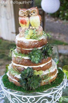 Owl wedding cake.