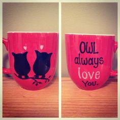 Owl coffee mug by sarahmarie28 on Etsy, $14.00