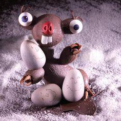 Chocolate Work, Homemade Chocolate, Chocolate Sculptures, Ice Age, Christmas Desserts, Food Art, Creative Art, Easter Eggs, Cake Decorating