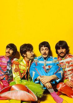 The Beatles y mucho color | Wallpaper para celular