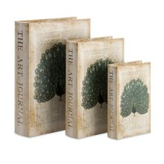 IMAX Peacock Book Boxes (Set of 3)