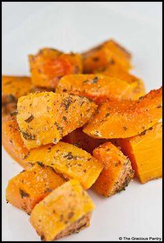 Clean Eating Herb Baked Butternut Squash (Click Pic for Recipe) I completely swear by CLEAN eating!!  To INSANITY and back....  One Girls Journey to Fitness, Health, & Self Discovery.... http://mmorris.webs.com/