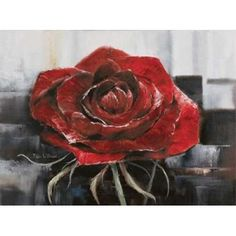 Posterazzi Blooming red Rose Canvas Art - Rian Withaar (18 x 24)