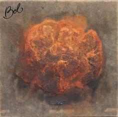 070 - Jose Bechara  Sem Título  Técnica mista sobre tela  30 alt X 30 larg (cm)  1995 - ass. no verso