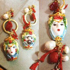Sicilian ceramic #bijoux #handamade #sicily #ceramic