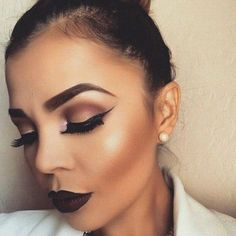 Great make- up look but the harsh contour/blush line though. Such a shame because the rest of the look is great❤️ Makeup On Fleek, Flawless Makeup, Gorgeous Makeup, Pretty Makeup, Love Makeup, Skin Makeup, Makeup Inspo, Makeup Inspiration, Makeup Style