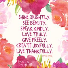 SHARED: Shine bright