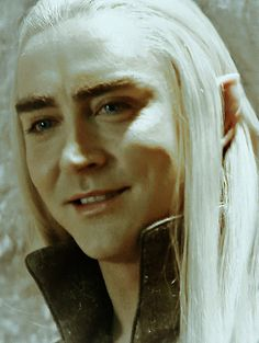 thranduil >> This is good - he seem out in the open sweet and dangerous at the same time. He IS a wild creature and with him you never know.....
