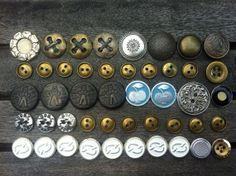 Vintage Metal ButtonsMetal ButtonsMixed Metal by CodettiSupply, $9.00