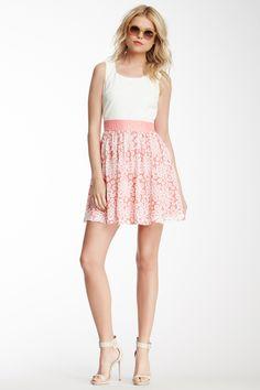 Mesh Floral Skirt Dress