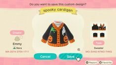 Animal Crossing Qr Codes Clothes, Animal Crossing Game, Nerd Herd, Halloween Season, Halloween Design, New Leaf, My Animal, Mammals, Funny Animals