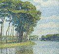 Paul Baum Bäume am Kanal.