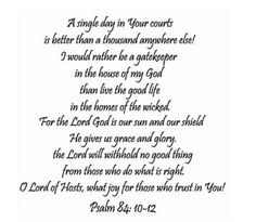 Psalm84:10-12