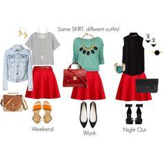 Same skirt, different outfits! - Misma falta, distintos outfits! #fashion #skirts #moda #faldas #GitanaStyling