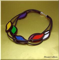 Hommage an Mondrian - Unikatschmuck von Dream-Colliers auf DaWanda.com