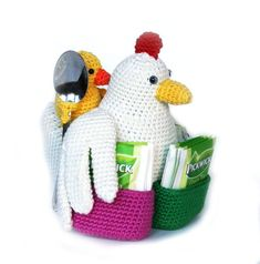 Ravelry: tea chicken pattern by Christel Krukkert Crochet Parrot, Crochet Birds, Crochet Toys, Free Crochet, Amigurumi Patterns, Crochet Patterns, Crochet Jar Covers, Chicken Pattern, Crochet Chicken