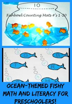 Fishbowl Counting Mats and Fishy Letters – Ocean Theme for Preschool & Kindergarten!   The Preschool Toolbox Blog