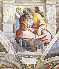 Jeremiah from the Sistine Chapel ceiling by Michelangelo
