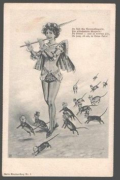 099186 Little Men as RATS FANTASY Superior Lady by WJ old