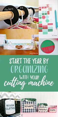 For some reason January fills me with an urge to organize everything. That will probably wear off too before I can actually get things in order, but let's not dwell on that. If you are a person who could actually get something done, here's six ways to organize with your cutting machine.