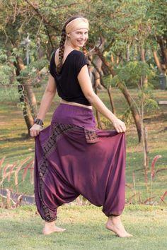 Calça Harem Púrpura - estilo e conforto numa única peça – CalçaThai.com