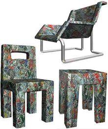 Kursi ini terbuat dari kaleng bekas yang dilebur kemudian dibentuk kembali lho, Teman Smartfren! #SMARTandFUN
