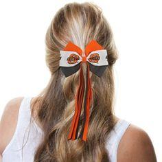 Oklahoma State Cowboys Ladies Streamer Bow - Orange/White/Black