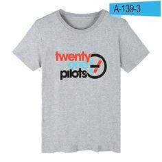 Rock Band 21 Pilots Twenty One Pilots t shirt Logo Cotton T-shirt With Short Sleeve And TwentyOne Pilots Short Sleeve Tee Shirt