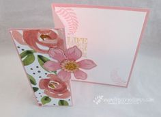 Stamp & Scrap with Frenchie: Easy fold A-2 card be ready fthis Moday