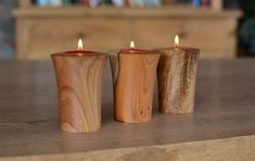 Image result for woodturning tealights