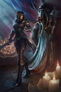 Fantasy Female Warrior, Fantasy Armor, Dark Fantasy Art, Warcraft Art, World Of Warcraft, Wow Elf, Character Art, Character Design, Character Ideas