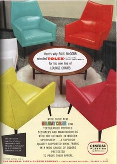 McCobb lounge chairs with Tolex vinyl upholstery