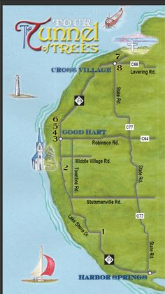 """Michigan's Scenic """"Tunnel of Trees"""" along Lake Michigan from Harbor Springs round the  tip of the mitt to the Mighty Mac bridge in Mackinaw City...have driven this and bicycled this many times in all kinds of weather and it is lovely every time..."""