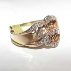 9ct-Filigree-Gold-Diamond-Band-Ring