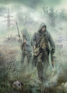 Zombie hunter: The two bothers walked side by side, armed to the bone with weapons. Zombie Kunst, Arte Zombie, Zombie Art, Post Apocalypse, Apocalypse Survivor, Character Concept, Character Art, Concept Art, Character Design