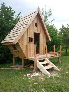 16 X 12 Shed Plans Free Refferal: 5399461941 Cubby Houses, Fairy Houses, Play Houses, Shed Construction, Outdoor Projects, Outdoor Decor, Backyard Projects, Wood Projects, Dream Furniture