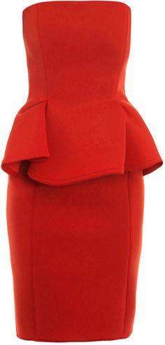 Lanvin Strapless Peplum Dress    beautiful Beautiful Beautiful!!!