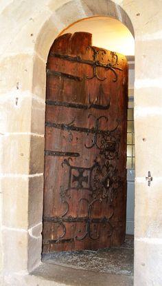 Markims kyrkodörr Vallentuna Uppland Sägs vara äldre än kyrkan.