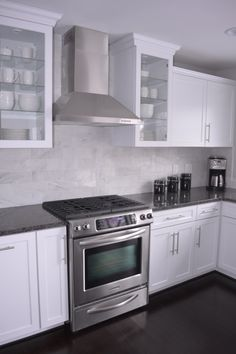 gray/white counter tops & white cabinets | kitchen ideas: grey