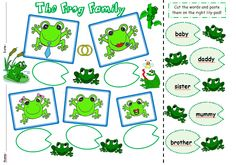 The Frog Family - worksheet