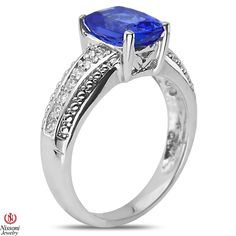 Ebay NissoniJewelry presents - 1/7CT Diamond Fashion Ring with Tanzanite 14k White Gold  0.16CT    Model Number:FR8025C-W477TA    http://www.ebay.com/itm/1-7CT-Diamond-Fashion-Ring-with-Tanzanite-14k-White-Gold-0.16CT/221630447467