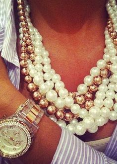 Pearls are a must have in everyone's wardrobe & accessory collection! I love them in gunmetal, brown, and the classic mother of pearl hue.    Shop these retailers to find amazing options for your pearl collection @Henney Hill Marcus @Zaley Gill @Saks Fifth Avenue Fifth Avenue @sharan's